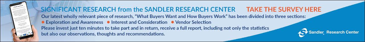 latest Sandler Research Survey